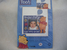 Pooh Bear Photo Frame Cross Stitch Kit:Comes with Frame, Floss, Fabric  - $5.00