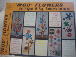 Mod Flowers Adjust O Peg Weaving Book - $35.00