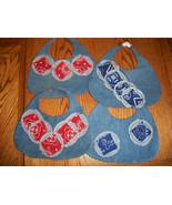 Handmade Reversible Denim Jeans & Bandanna Baby Bib - $15.00