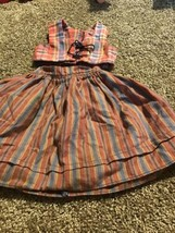 American Girl Kristen's Plaid Vest and Striped Skirt Pleasant Company 1996 - $24.74