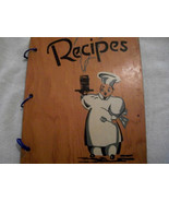 Vintage Wooden 3 Ring Recipe Journal  - $65.00