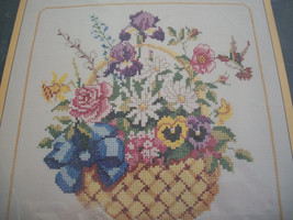 Sunset Floral Basket Cross Stitch Kit: Comes with Floss, Fabric & Direct... - $24.00