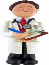 PERSONALIZED NAME MALE DOCTOR CHRISTMAS GIFT ORNAMENT WE CAN CUSTOM PRIN... - $11.78
