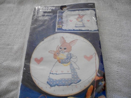 Mama & Baby Bunny Stamped Pillow Sham Embroidery Kit - $12.00