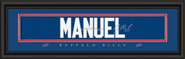 E. J. Manual Buffalo Bills Player Signature Stitched Jersey Framed Prin - $39.95