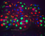 Clear latex polka dot blacklight balloons8 thumb155 crop