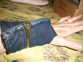 Denim Jeans Zipper Wrist Wallet - $10.00