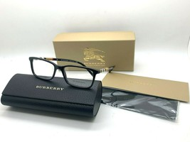 Burberry B2199 3001 Shiny Black Authentic Eyeglasses Frame 53-17-145MM Nib - $116.37