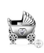 AUTHENTIC PANDORA Baby Stroller 925 Silver Original Charm Beads Bracelet... - $10.75