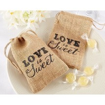 Love is Sweet Burlap Bags Set of 12 Wedding Favor Bags Boxes Coffee Favors - ₨1,062.92 INR