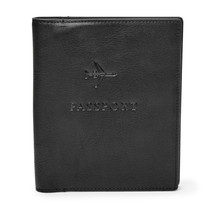 fossil man genuine wallet Leather RFID Passport Case - $27.00