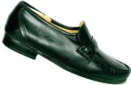 Bostonian Stockbridge Men's Black Leather Moc Toe Slip On Loafer Shoe 9.5 M - $35.29