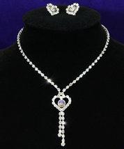 Wedding Heart Crystal Rhinestone Necklace Earrings Set Bridesmaid - $29.99