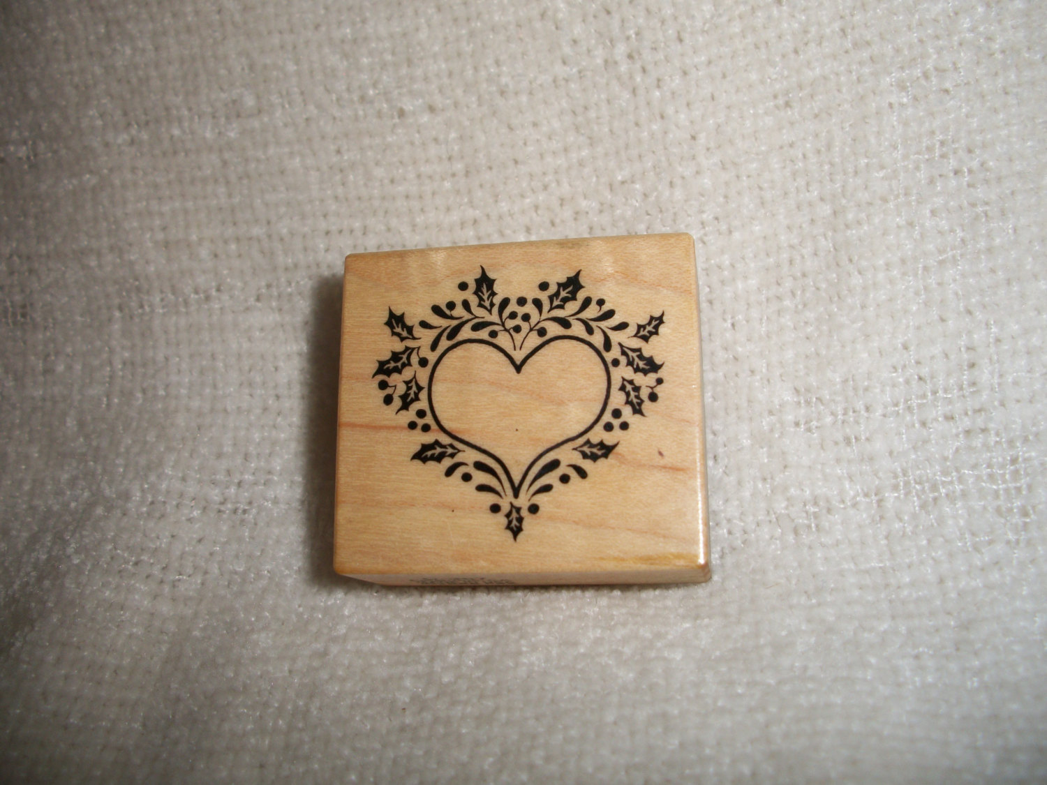 Primary image for Heart With Holly Rubber Stamp