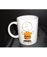 Vintage Peanuts Charlie Brown Mug Good Grief! White Coffee Cup Schultz - $12.17