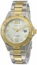 Invicta Women's 12852 Pro Diver Gold Dial Two Tone Watch with Crystal Accents - $80.18
