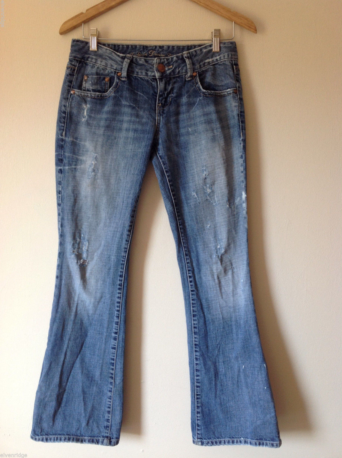 Madison Denim Co. Womens' Size 3/4 Distressed Destroyed Flared Jeans Pants