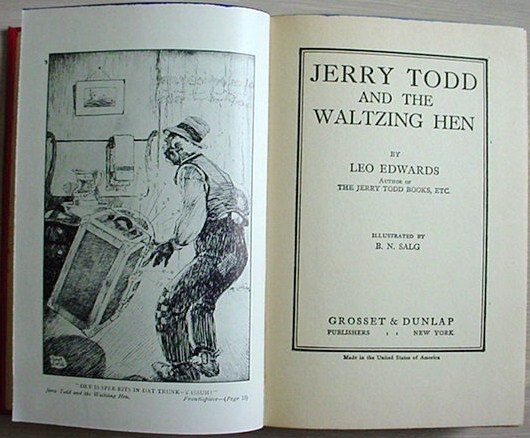 1930's JERRY TODD AND THE WALTZING HEN Leo Edwards HC myster
