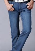 Men's fashion classic wash jeans image 3