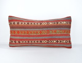 12x24inch Mini Kelim lumbar Pillows,12x24 lumba... - $18.00