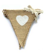 dealzEpic - Rustic Burlap Banners with Heart Shape Printing   Outdoor Ga... - $8.10
