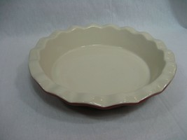"Good Cook 9"" Pie Plate Dish Stoneware Burgundy - €16,43 EUR"
