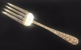 """S. Kirk & Son REPOUSSE Sterling Serving Medium Cold Meat Fork 8 1/2"""" No ... - $79.31"""
