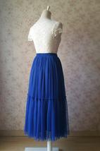 ROYAL BLUE High Waist Tulle Skirt Bridal Bridesmaid Skirt Layer Full Tulle Skirt image 10