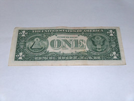2013 $1 Dollar Bill US Bank Note Date Year Birthday 1980 8983 Fancy Money Serial image 2