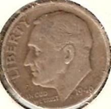 Roosevelt Dime 1946   F - $4.50