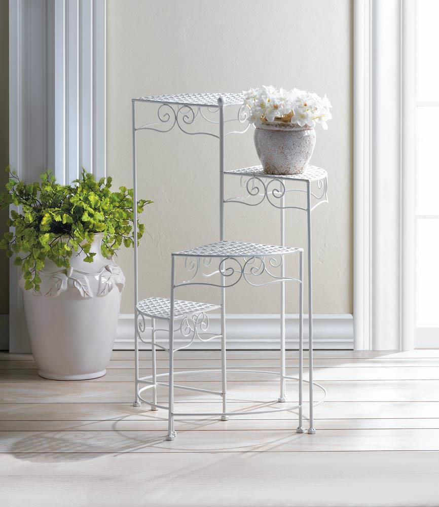 10018035 Plant Stand - White 4-Tier