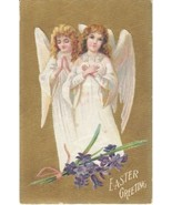 Vintage Postcard Easter Victorian Angels 1909 - $8.90