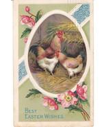 Vintage Postcard Easter Chickens Pink Dogwoods ... - $6.92