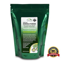 Moringa Powder Organic (8 oz bag) Vegan, 100% Pure Leaf, All Natural Ene... - $12.95