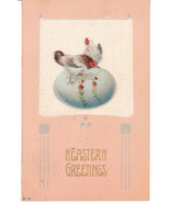 Vintage Postcard Easter Chickens Decorated Egg ... - $8.90