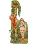 Vintage Valentine Card Boy Climbs Tree Mechanic... - $14.84