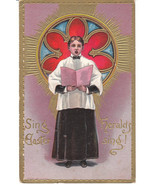 Vintage Postcard Easter Choir Boy Singing Churc... - $7.91