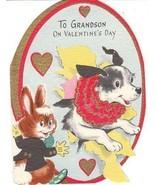 Vintage Valentine Card Jack Russell Terrier Dog... - $9.89