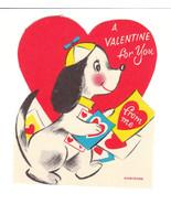 Vintage Valentine Card Beagle Dog in Beanie Cap... - $6.92