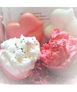 valentines bath and body gift set, gift set, lip soap, kisses soap, beau... - $16.00