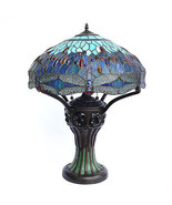 Vintage Tiffany Style Dragon Turtle Back Ornate Table Lamp 22'' x ,28''H. - $692.01