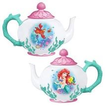 Walt Disney's The Little Mermaid Ariel and Flounder 48 oz Ceramic Teapot BOXED - $58.04