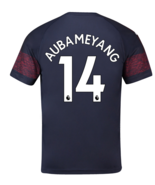 Arsenal Away #14 AUBAMEYANG 2018-19 Men Soccer Jersey Football Shirt New... - $36.99