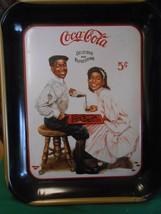 RARE Coca Cola Tray WINNING SMILES by African-American Artist J.S.Sandri... - $29.29