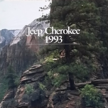 1993 Jeep CHEROKEE sales brochure catalog CANADA 93 - $8.00