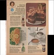 Pillsbury Sour Cream Fudge Cake Mix Cremora 1966 Vintage Antique Adverti... - $3.25
