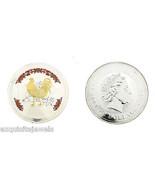 RARE 2005 Australia Perth Gilded Lunar Rooster .999 Silver 5 Oz $8 Bulli... - €344,24 EUR