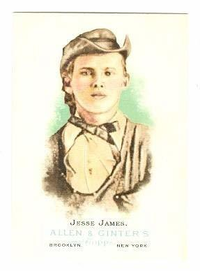 Jesse James trading card (James Younger Outlaw Gang) 2006 Topps Allen and Ginter