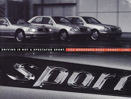 1996/1997 Mercedes-Benz SPORT LINE brochure catalog US C 280 E 420 SL 50... - $10.00