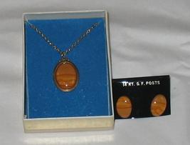 Tiger Eye Pendant and Earring Set - $24.95